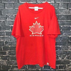 Red Nike Team Canada Graphic Tshirt